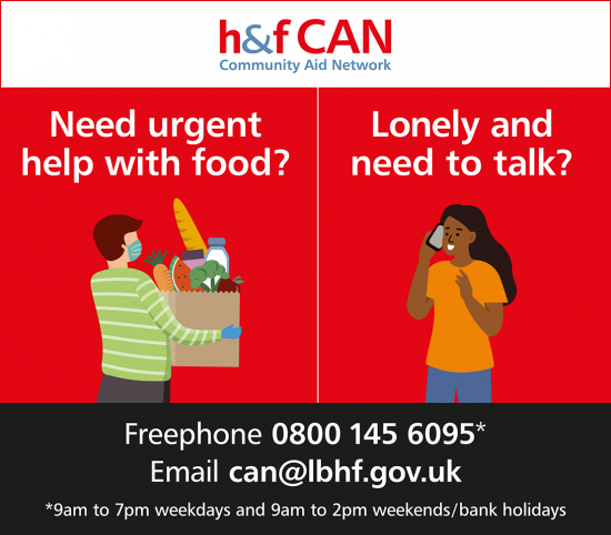 Get help from the H&F Community Aid Network