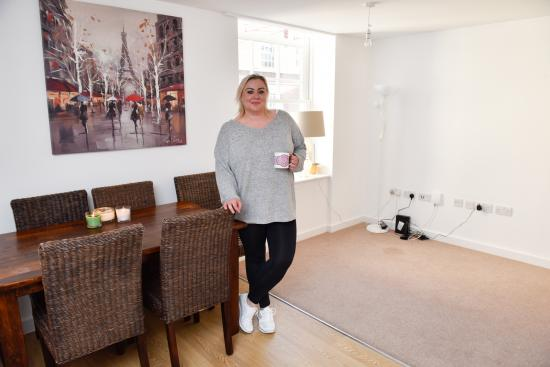 Magda Ryan in her new apartment