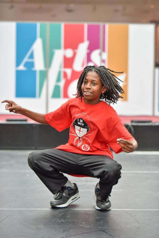 ArtsFest urban dancer