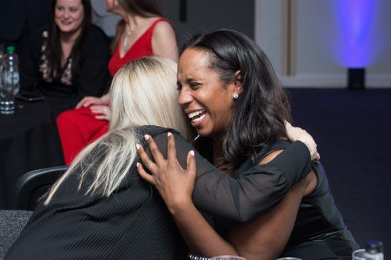 Winner celebrates getting a 2019 Brilliant Business award