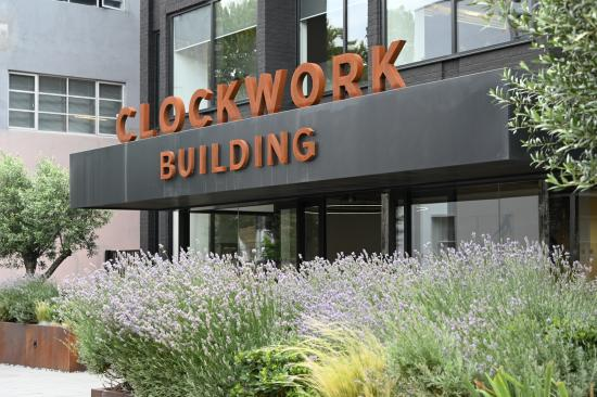 Entrance to the Clockwork Building