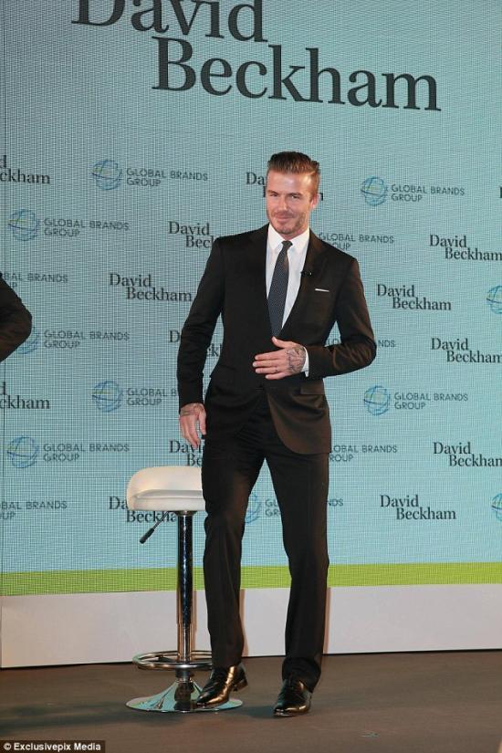David Beckham at a Global Brands Group event