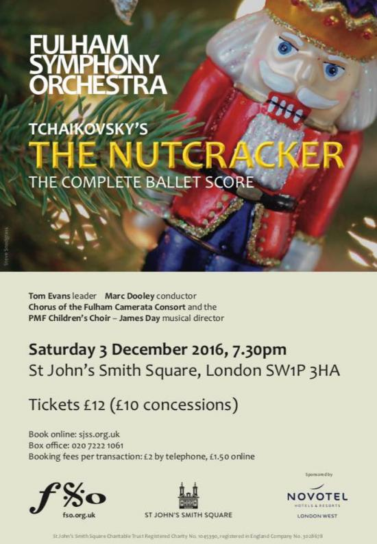 Fulham Symphony Orchestra's The Nutcracker poster