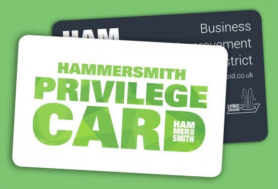 The Hammersmith Privilege Card design