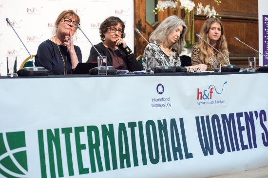 Four panel members from the International Women's Day event