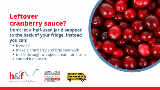 Leftover cranberry sauce? Don't let a half-used jar disappear to the back of your fridge. Instead you can freeze it, make a cranberry and brie sandwich, mix it through whipped cream for a trifle or spread it on toast