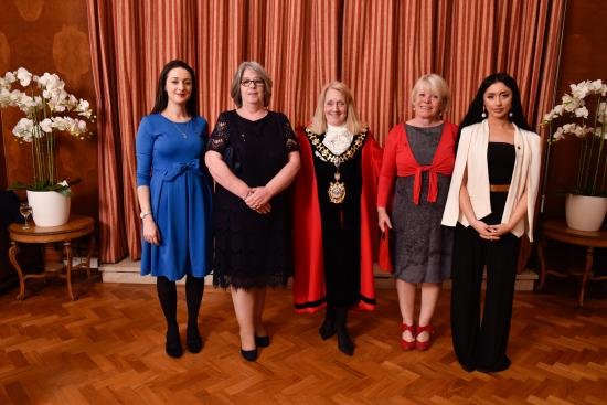 Mayor Cllr Daryl Brown with her Mayoresses