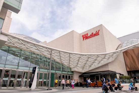 Exterior view of Westfield London in White City