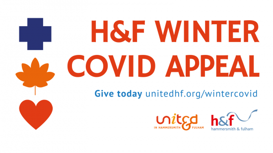 Link to the H&F Winter Covid Appeal information page on www.unitedhf.org/wintercovid
