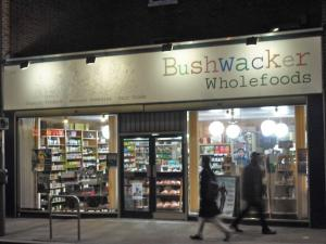 Exterior of Bushwacker Wholefoods in Hammersmith