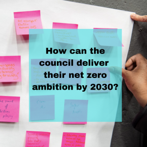 How can the council deliver their net zero ambition by 2030?
