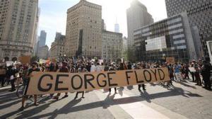 George Floyd protest march - America
