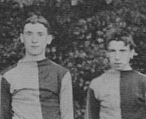Archive photo of Harry Coleman and Fred McKay in their St Andrew's FC strip