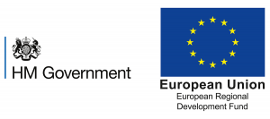 HM Government and European Regional Development Fund logos