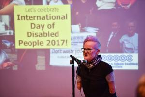 Image links to our Flickr gallery of the International Day of Disabled People event