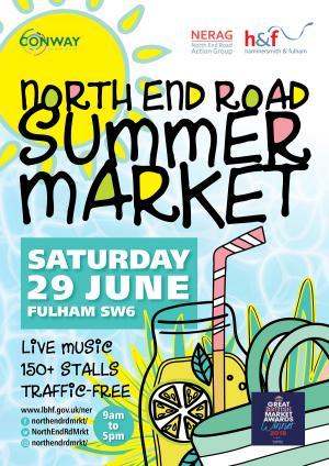 North End Road summer market 2019 poster