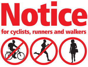Link to Thames path closure information flyer for cyclists, runners and walkers