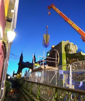 Works taking place on Hammersmith Bridge