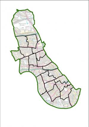Map of recommended new ward boundaries for Hammersmith & Fulham