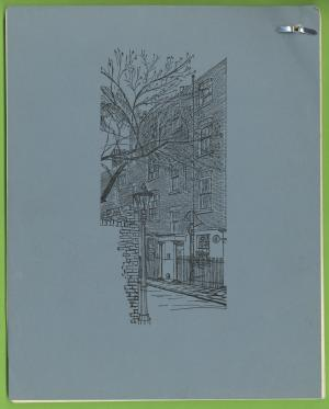 Sketch of Emery Walker's house at 7 Hammersmith Terrace