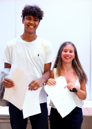 Students at the West London School delighted with their GCSE results