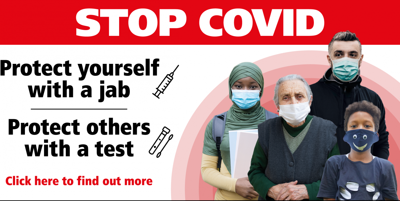 Stop Covid - link to www.lbhf.gov.uk/coronavirus
