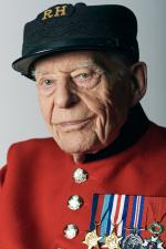 Ernie Boyden in his Chelsea Pensioner's uniform