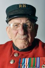 Frank Mouqué in his Chelsea Pensioner's uniform